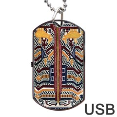 Traditional Batik Indonesia Pattern Dog Tag Usb Flash (two Sides) by BangZart