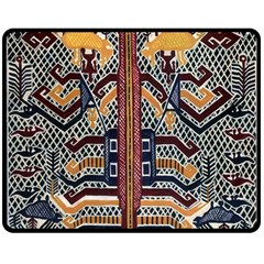 Traditional Batik Indonesia Pattern Double Sided Fleece Blanket (medium)