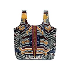 Traditional Batik Indonesia Pattern Full Print Recycle Bags (s)