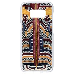 Traditional Batik Indonesia Pattern Samsung Galaxy S8 White Seamless Case by BangZart