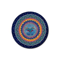 Traditional Pakistani Art Rubber Round Coaster (4 Pack)  by BangZart