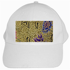 Traditional Art Batik Pattern White Cap by BangZart