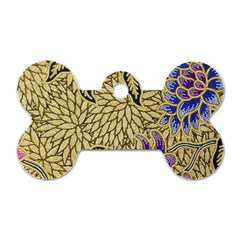 Traditional Art Batik Pattern Dog Tag Bone (one Side)