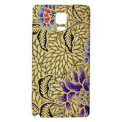 Traditional Art Batik Pattern Galaxy Note 4 Back Case