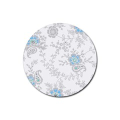 Traditional Art Batik Flower Pattern Rubber Coaster (round)  by BangZart