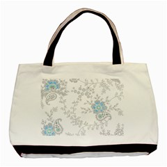 Traditional Art Batik Flower Pattern Basic Tote Bag by BangZart