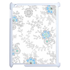 Traditional Art Batik Flower Pattern Apple Ipad 2 Case (white) by BangZart