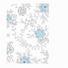 Traditional Art Batik Flower Pattern Large Garden Flag (two Sides)
