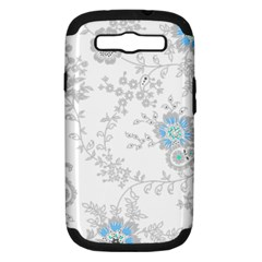 Traditional Art Batik Flower Pattern Samsung Galaxy S Iii Hardshell Case (pc+silicone) by BangZart