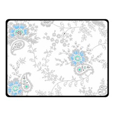 Traditional Art Batik Flower Pattern Double Sided Fleece Blanket (small)  by BangZart