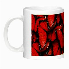 The Red Butterflies Sticking Together In The Nature Night Luminous Mugs by BangZart