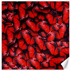 The Red Butterflies Sticking Together In The Nature Canvas 20  X 20   by BangZart