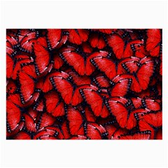 The Red Butterflies Sticking Together In The Nature Large Glasses Cloth