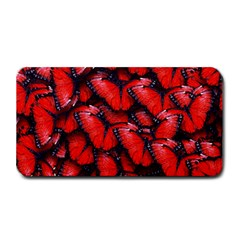 The Red Butterflies Sticking Together In The Nature Medium Bar Mats by BangZart