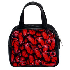 The Red Butterflies Sticking Together In The Nature Classic Handbags (2 Sides) by BangZart