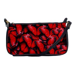The Red Butterflies Sticking Together In The Nature Shoulder Clutch Bags