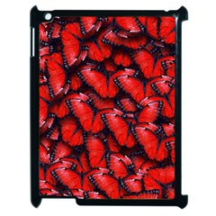 The Red Butterflies Sticking Together In The Nature Apple Ipad 2 Case (black)