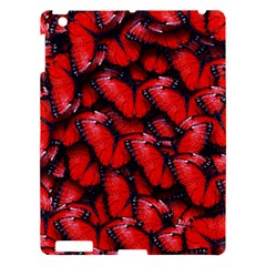 The Red Butterflies Sticking Together In The Nature Apple Ipad 3/4 Hardshell Case