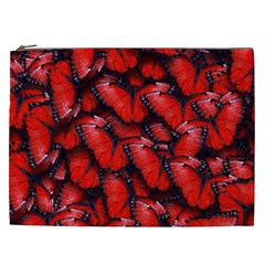 The Red Butterflies Sticking Together In The Nature Cosmetic Bag (xxl)  by BangZart