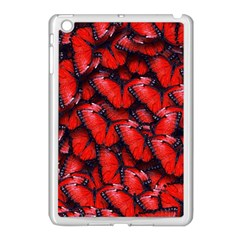 The Red Butterflies Sticking Together In The Nature Apple Ipad Mini Case (white) by BangZart