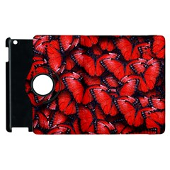 The Red Butterflies Sticking Together In The Nature Apple Ipad 2 Flip 360 Case by BangZart