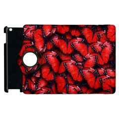 The Red Butterflies Sticking Together In The Nature Apple Ipad 3/4 Flip 360 Case by BangZart