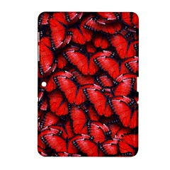 The Red Butterflies Sticking Together In The Nature Samsung Galaxy Tab 2 (10 1 ) P5100 Hardshell Case  by BangZart