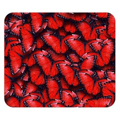 The Red Butterflies Sticking Together In The Nature Double Sided Flano Blanket (small)