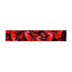 The Red Butterflies Sticking Together In The Nature Flano Scarf (mini) by BangZart