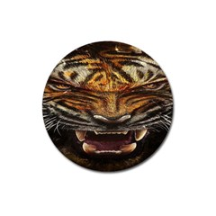 Tiger Face Magnet 3  (round) by BangZart