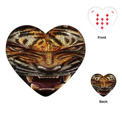 Tiger Face Playing Cards (heart)  by BangZart