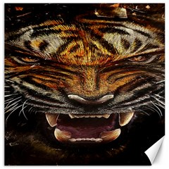Tiger Face Canvas 20  X 20   by BangZart