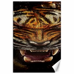 Tiger Face Canvas 24  X 36  by BangZart