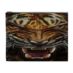 Tiger Face Cosmetic Bag (xl) by BangZart