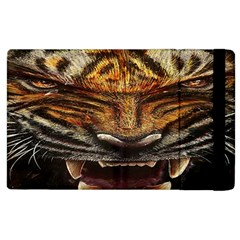 Tiger Face Apple Ipad 2 Flip Case by BangZart