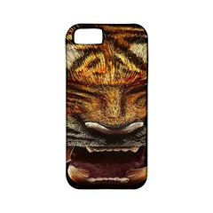 Tiger Face Apple Iphone 5 Classic Hardshell Case (pc+silicone) by BangZart