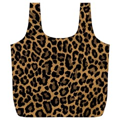 Tiger Skin Art Pattern Full Print Recycle Bags (l)  by BangZart
