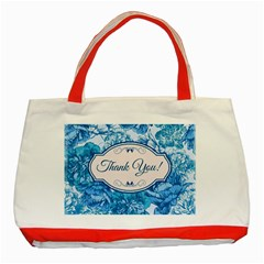 Thank You Classic Tote Bag (red) by BangZart