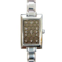 Texture Hexagon Pattern Rectangle Italian Charm Watch
