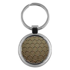Texture Hexagon Pattern Key Chains (round)  by BangZart