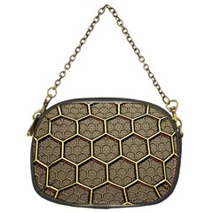 Texture Hexagon Pattern Chain Purses (one Side)  by BangZart