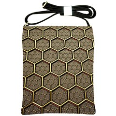 Texture Hexagon Pattern Shoulder Sling Bags