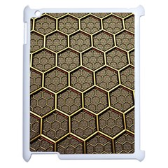 Texture Hexagon Pattern Apple Ipad 2 Case (white) by BangZart