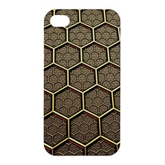 Texture Hexagon Pattern Apple Iphone 4/4s Premium Hardshell Case by BangZart
