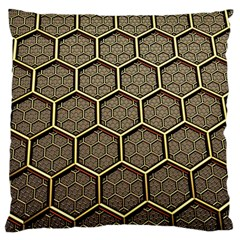 Texture Hexagon Pattern Large Cushion Case (two Sides)