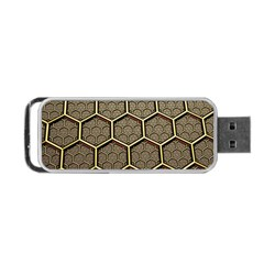 Texture Hexagon Pattern Portable Usb Flash (two Sides)