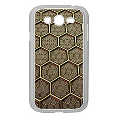 Texture Hexagon Pattern Samsung Galaxy Grand Duos I9082 Case (white) by BangZart