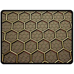 Texture Hexagon Pattern Double Sided Fleece Blanket (large)  by BangZart