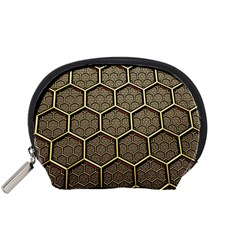 Texture Hexagon Pattern Accessory Pouches (small)  by BangZart