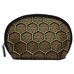 Texture Hexagon Pattern Accessory Pouches (large)  by BangZart